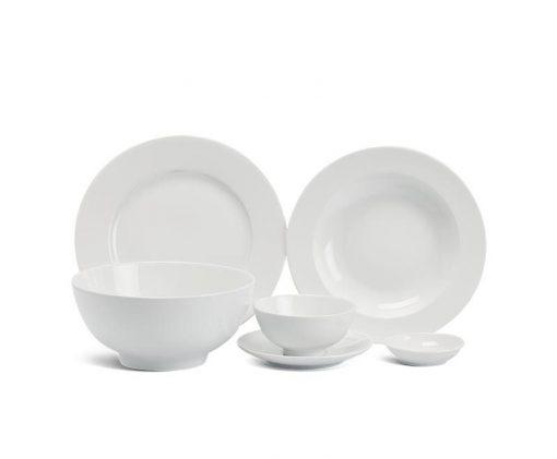 Bộ bàn ăn Minh Long Jasmine Trắng - 36 sản phẩm