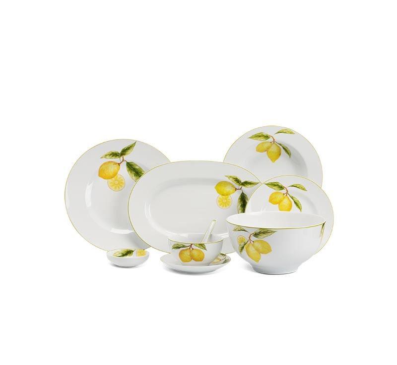 Bộ bàn ăn Minh Long Camellia Quả Chanh – 48 sản phẩm
