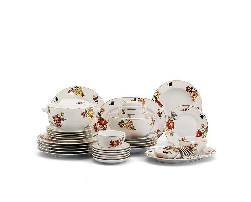 Bộ bàn ăn Minh Long Camellia Cát Tường – 49 sản phẩm