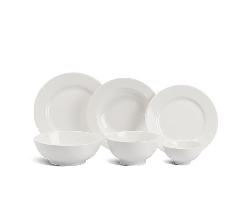Bộ bàn ăn Minh Long Jasmine IFP Trắng Ngà – 14 sản phẩm