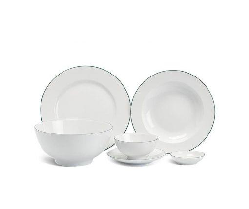 Bộ bàn ăn Minh Long Camellia Chỉ Xanh Dương - 25 sản phẩm