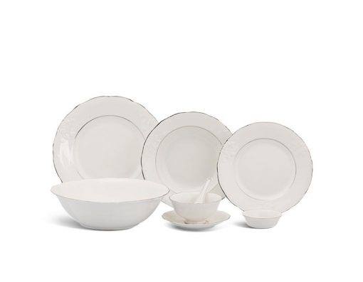 Bộ bàn ăn Minh Long, Bộ bàn ăn Minh Long Đài Các Chỉ Bạch Kim