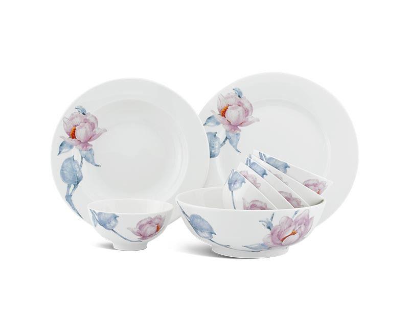 Bộ bàn ăn Minh Long Jasmine IFP Trà Mi – 9 sản phẩm