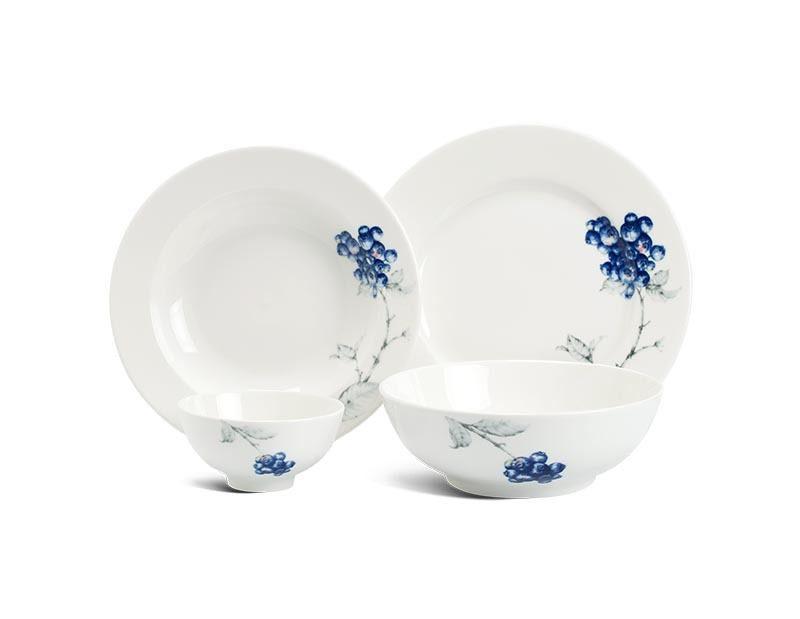 Bộ bàn ăn Minh Long Jasmine IFP Việt Quất – 9 sản phẩm