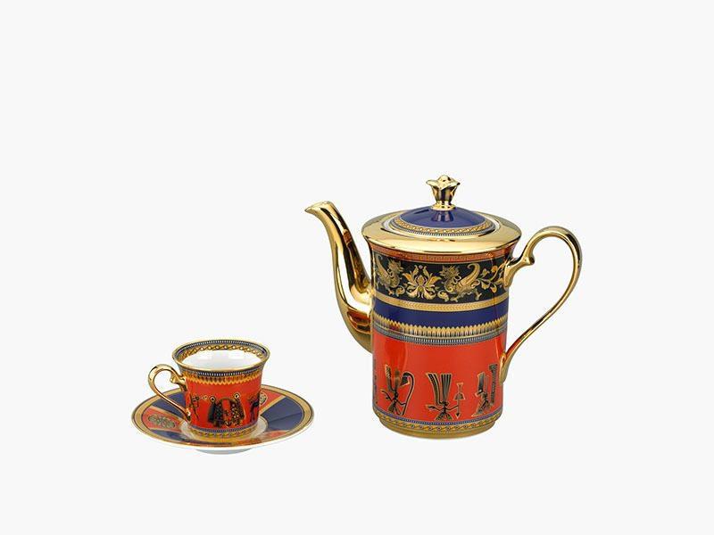 Bộ cà phê Minh Long Tulip Trắng Trống Đồng 0.8L