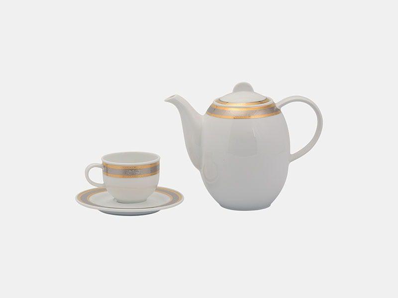 Bộ cà phê Minh Long Sago Hoa Hồng 1.3L