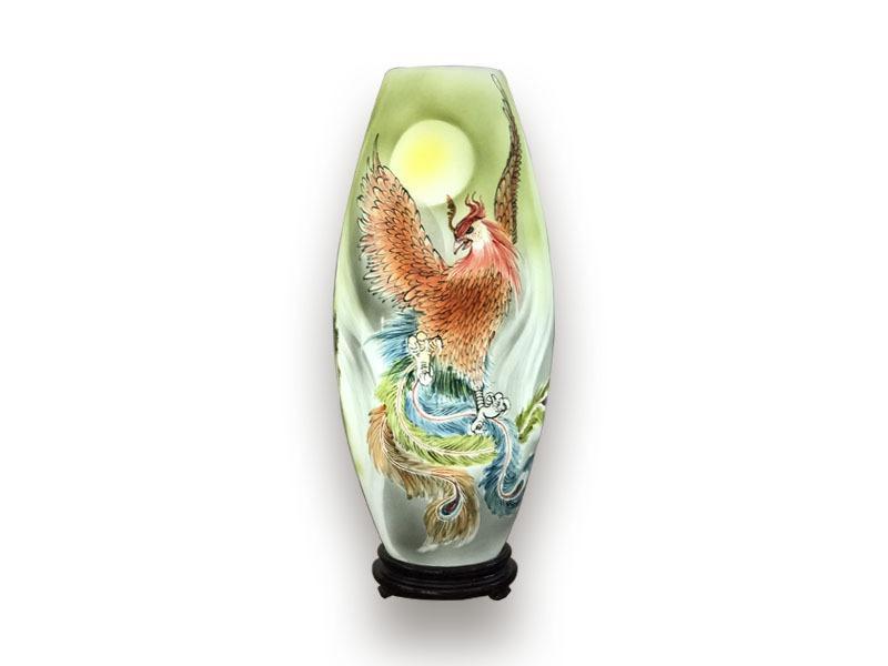 Đèn Xông Tinh Dầu Bát Tràng Phượng Hoàng Lửa H52cm