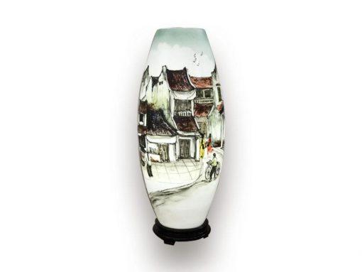 đèn xông tinh dầu, den xong tinh dau, đèn xông tinh dầu bằng điện, đèn xông tinh dầu bát tràng, đèn xông tinh dầu điện giá rẻ, đèn xông tinh dầu tphcm, đèn xông tinh dầu giá rẻ, đèn ngủ xông tinh dầu, đèn xông tinh dầu điện hcm, đèn xông tinh dầu giá sỉ, Đèn Xông Tinh Dầu Bát Tràng Dáng Ống - Phố Xưa