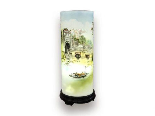 đèn xông tinh dầu, den xong tinh dau, đèn xông tinh dầu bằng điện, đèn xông tinh dầu bát tràng, đèn xông tinh dầu điện giá rẻ, đèn xông tinh dầu tphcm, đèn xông tinh dầu giá rẻ, đèn ngủ xông tinh dầu, đèn xông tinh dầu điện hcm, đèn xông tinh dầu giá sỉ, Đèn Xông Tinh Dầu Bát Tràng Dáng Ống - Cảnh Chùa