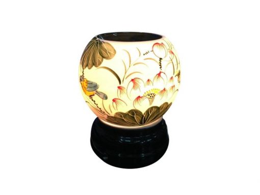 đèn xông tinh dầu, den xong tinh dau, đèn xông tinh dầu bằng điện, đèn xông tinh dầu bát tràng, đèn xông tinh dầu điện giá rẻ, đèn xông tinh dầu tphcm, đèn xông tinh dầu giá rẻ, đèn ngủ xông tinh dầu, đèn xông tinh dầu điện hcm, đèn xông tinh dầu giá sỉ, Đèn Xông Tinh Dầu Bát Tràng Tròn S1- Sen
