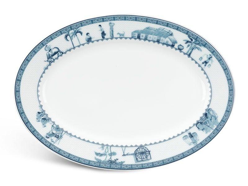 Dĩa oval Minh Long Jasmine Thôn Dã 28cm