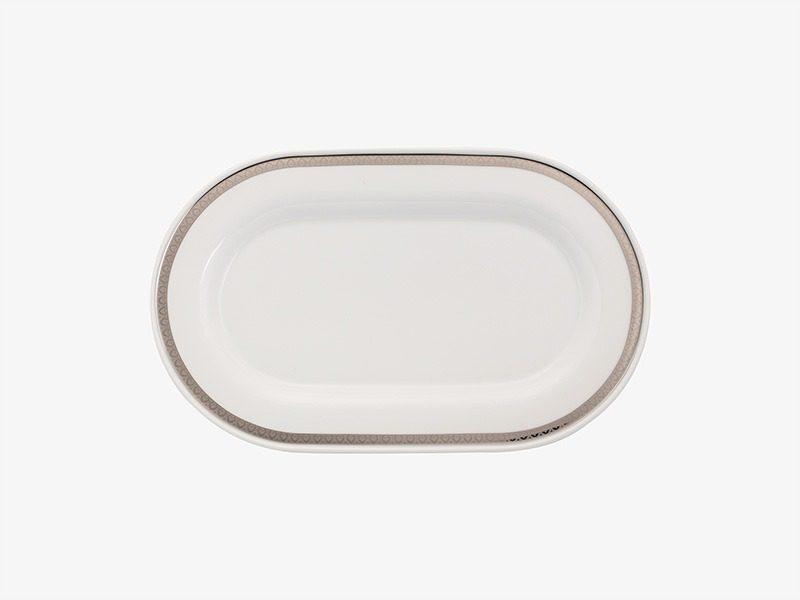 Dĩa oval Minh Long Sago Thiên Tuế 34cm