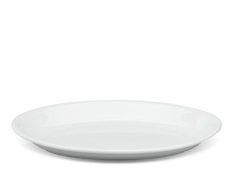 Dĩa oval ảo Minh Long Daisy Trắng 21cm