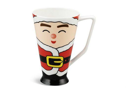 Ca bia Minh Long, Ca sứ mỏng Minh Long 0.5 L - Vẽ Bà Noel