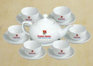 Bộ trà in logo giá rẻ