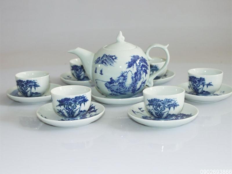 Bộ ấm trà Bát Tràng Chóp Lửa Lã Vọng 500ML