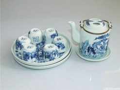 bộ ấm trà, gốm sứ Bát Tràng