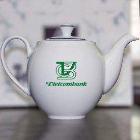 Dịch vụ in logo lên bộ ấm chén giá rẻ