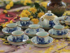 ấm trà tử sa, ấm tử sa, ấm tử sa bát tràng, bộ ấm trà tử sa