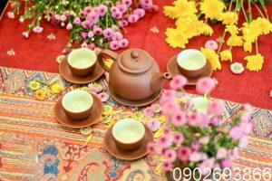 ấm tử sa, ấm trà tử sa, bộ ấm trà tử sa, bộ ấm trà tử sa bát tràng