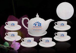 Bộ ấm trà giá rẻ gốm sứ Bát Tràng