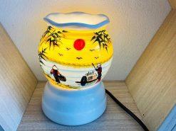 Đèn Xông Tinh Dầu Bát Tràng Vẽ Chim Trĩ – Hoa Đào