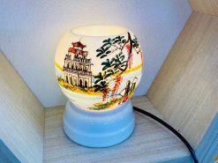 Đèn Xông Tinh Dầu Bát Tràng Dáng Ống – Đường Quê-H42cm