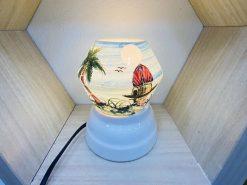 Đèn Xông Tinh Dầu Bát Tràng Dáng Ống – Phố Xưa H42cm