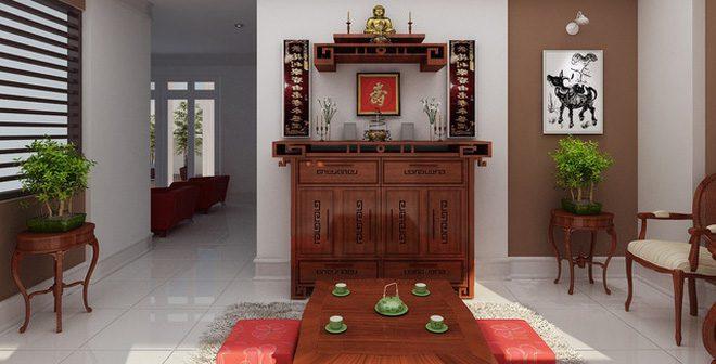 Bàn thờ gia tiên theo phong tục Việt Nam đặt sao cho hợp phong thủy