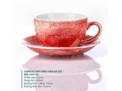 Ly Cafe Cappuccino sứ Màu Vân Đá Đỏ 220ml, Ảnh chụp ly cà phê đẹp
