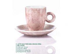 ly latte cà phê cao cấp, ly sứ cà phê, ly sứ bát tràng, mẫu ly cafe đẹp